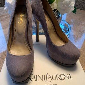 Yves Saint Laurent YSL Tribute Pumps Gray Size 39